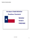 Math STAAR Review Task Cards 7.4 A