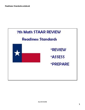 Math STAAR Review Task Cards 7.4 D