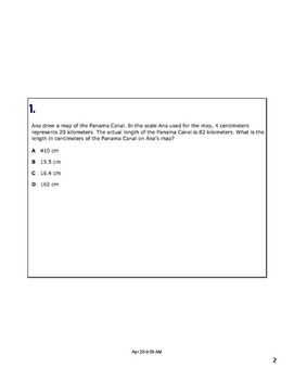 Math STAAR Review Task Cards 7.5 C