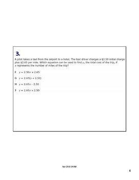 Math STAAR Review Task Cards 7.7 A