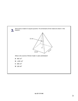Math STAAR Review Task Cards 7.9 A