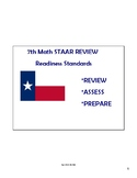 Math STAAR Review Task Cards 7.9 C