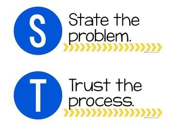 Math STAMINA Mini-Posters (Blue & Yellow)