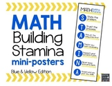Math STAMINA Mini-Posters (Blue & Yellow)