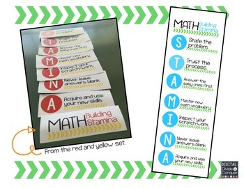 Math STAMINA Mini-Posters (Green & Blue)