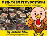 Math/STEM Provocations: 6 Thanksgiving Hands On Activities