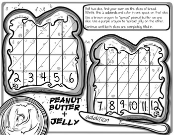 Math Sandwich - 2-Digit & 3-Digit Addition Printables