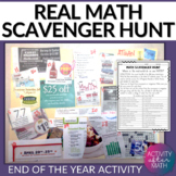 Math Scavenger Hunt. End of the year group activity and real-world application!