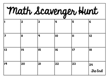 Math Scavenger Hunt: 2 digit addition (with regrouping)