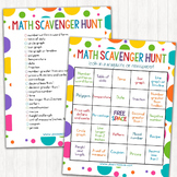 Math Scavenger Hunt Bingo