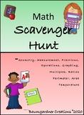 Math Scavenger Hunt Booklet: JUNE FREEBIE!