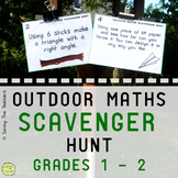 Outdoor Math Scavenger Hunt Activity: Grades 1 and 2