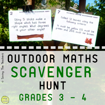 Math Scavenger Hunt Activity: Grades 3 and 4