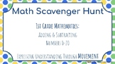 Math Scavenger Hunt: Adding and Subtracting Numbers 0 - 20