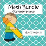 Math Scavenger Hunts Bundle - Algebra, Fractions, Decimals, Equations