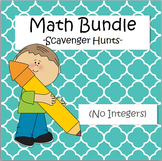 Math Scavenger Hunts Bundle - Algebra, Fractions, Decimals
