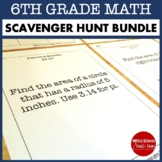 Math Scavenger Hunt Bundle - 6th Grade Math