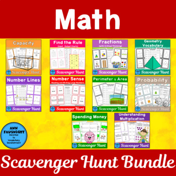 Math Scavenger Hunt Bundle