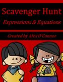 6th Grade Math Scavenger Hunt: Expressions & Equations