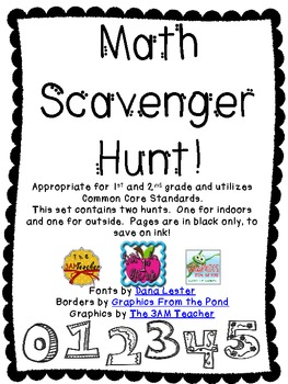 Math Scavenger Hunt Freebie By Dana Lester Teachers