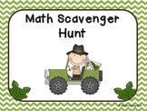 Math Scavenger Hunt - Math Vocabulary Review (Great for Ma