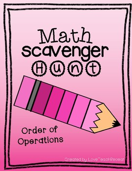 Math Scavenger Hunt: Order of Operations