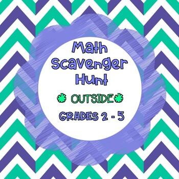 "Math Scavenger Hunt (*Outside*) and ""SIDEWALK SCOOT"""