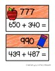 Math Scavenger Hunt: Three-Digit Addition (with and without regrouping)