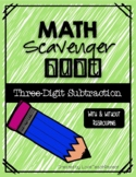 Math Scavenger Hunt: Three-Digit Subtraction (with and wit