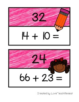 Math Scavenger Hunt: Two-Digit Addition (with and without regrouping)