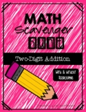 Math Scavenger Hunt: Two-Digit Addition (with and without