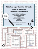Math Scavenger Hunt for Fourth Grade:  A Game for Skills Review