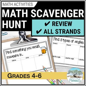 Math Scavenger Hunt - junior grades