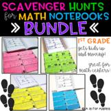 Math Scavenger Hunts: 1st Grade Bundle