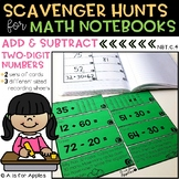 Math Scavenger Hunts: Adding and Subtracting Two-Digit Numbers