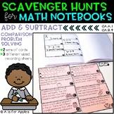 Math Scavenger Hunts: Addition and Subtraction Comparison Problem Solving