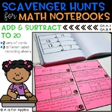 Math Scavenger Hunts: Addition and Subtraction to 20