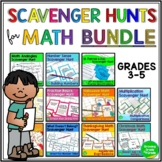 Math Scavenger Hunts BUNDLE