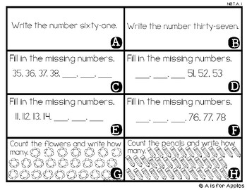 Math Scavenger Hunts: Counting to 120