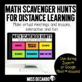 Math Scavenger Hunts for Distance Learning