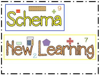 Math Schema Labels