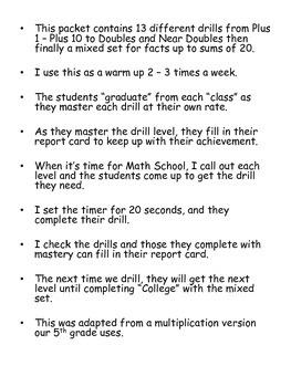 Math School Packet