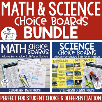 Math & Science Choice Boards BUNDLE