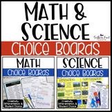 Math & Science Choice Boards BUNDLE