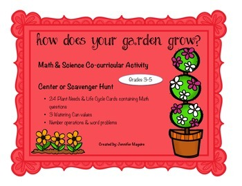 SPRING Math {& Science - Plant Life Cycle} Center or Scavenger Hunt