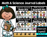 Math & Science Journal Labels {Editable}