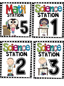 Math & Science Station or Tub Labels