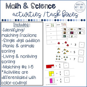 Math & Science Task Boxes / Center Activities