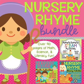 Math, Science, and Literacy Nursery Rhyme Bundle