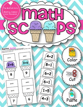 Math Scoops! (Addition and Subtraction up to 20)